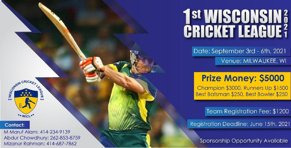 Wisconsin Cricket League - 2021