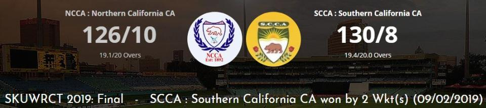 SCCA beat NCCA by 2 wickets in SKUWRCT 2019 Final