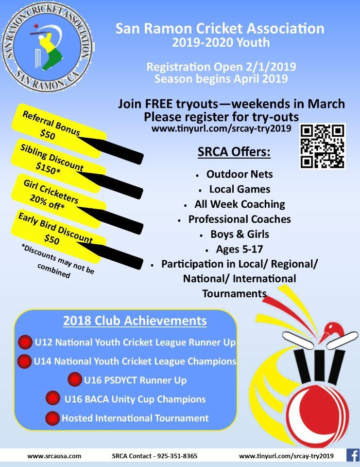SRCA Youth Registrations