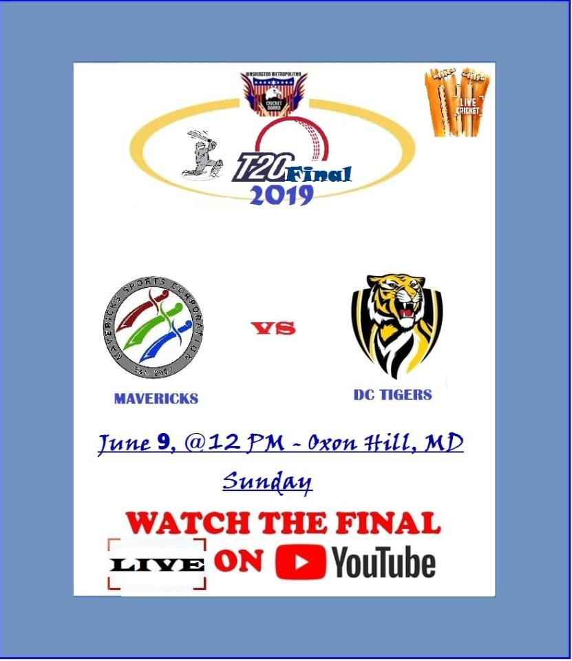 WMCB T20 Final 2019 - DC Tigers CC vs Mavericks CC