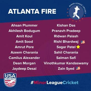 ATLANTA FIRE TEAM - MINOR LEAGUE CRICKET 2020