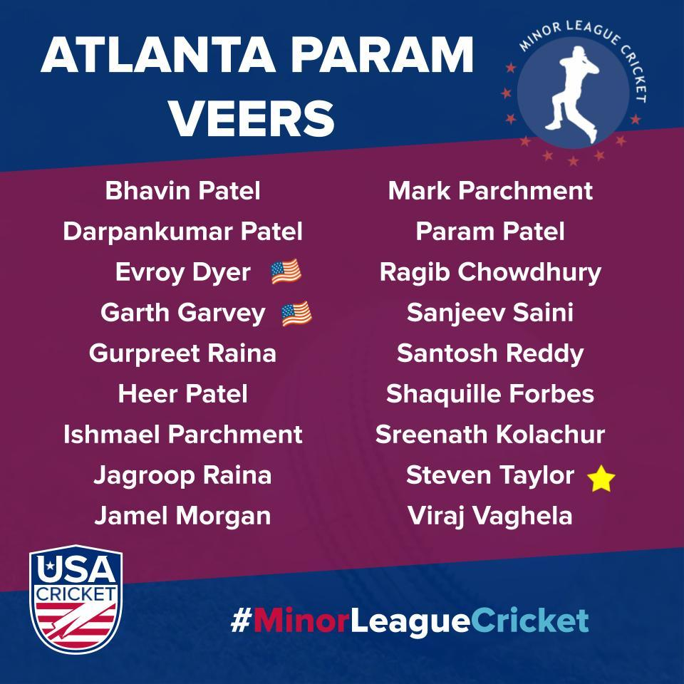 Atlanta Param Veers Team - Minor League Cricket 2020