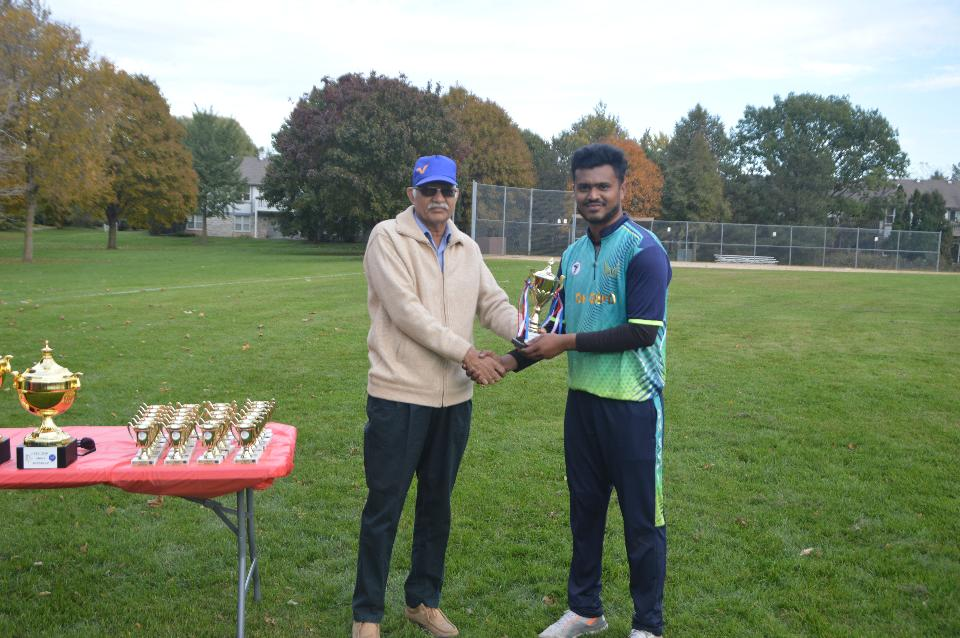 Player of the series - Kevin Patel (Dee park dynamites)