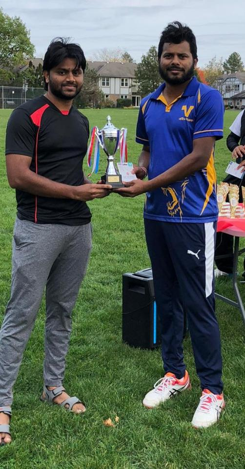 Best Bowler - Shiva Krishna (Vistex Strikers)