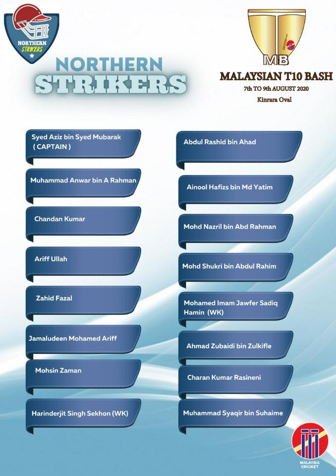 Northern Strikers Malaysian T10 Bash 2020