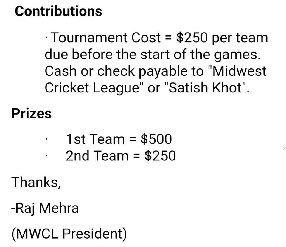 Prize announced